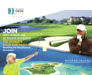 Join Golf Legend Greg Norman and Sir Richard Branson for the 2015 Necker Open Pro Am at Sea Island a