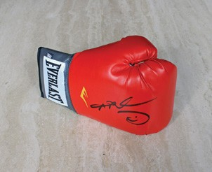 Boxing Glove Signed by the Former World Champion
