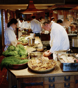 Supper in the Kitchen at Chez Panisse