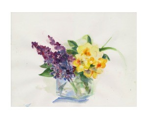 Spring Bouquet Print By Margrit Mondavi