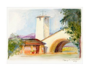 The Winery Print By Margrit Mondavi