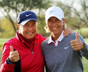 Group Half Day Coaching Clinic in Scottsdale AZ with Pia Nilsson and Lynn Marriott