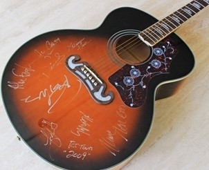 Epiphone Acoustic Guitar Signed by Rob Thomas and his Solo Band