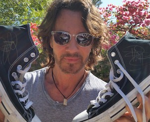 Rick Springfields Signed Converse Chuck Taylors