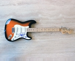 Fender Squier Stratocaster Signed by Rick Springfield