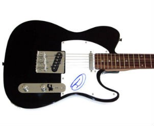 Guitar Signed by Maroon 5s Adam Levine