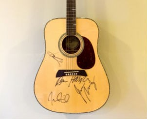 Acoustic Guitar Signed by Ben Harper and Relentless7