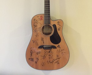 Guitar Signed by Three Legendary Bluegrass Bands The String Cheese Incident Umphreys McGee and The Y