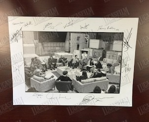 Star Wars The Force Awakens Cast Photo Signed By Adam Driver JJ Abrams Harrison Ford Mark Hamill and